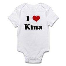 I Love Kina Infant Bodysuit
