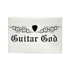 Guitar God Rectangle Magnet