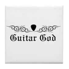 Guitar God Tile Coaster