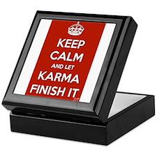 Keep Calm and let Karma Finish It Keepsake Box
