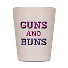 Guns and Buns Shot Glass
