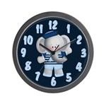 Elephant Sailor Wall Clock