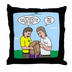 KNOTS Berry Farm Throw Pillow