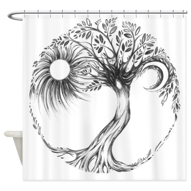 - Tree Of Life Shower Curtain By LizaPaizisArt