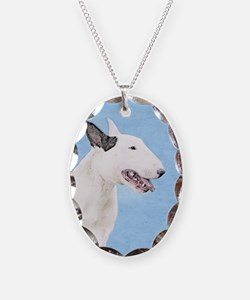 Bull Terrier Necklace Oval Charm