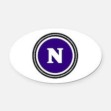 Purple Oval Car Magnet