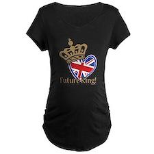 Future King Union Jack Heart Flag T-Shirt
