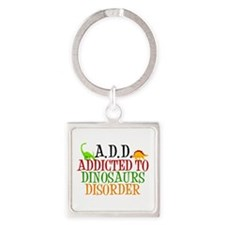 Funny Dinosaur Square Keychain