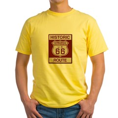 Siberia Route 66 Yellow T-Shirt