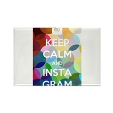 Keep Calm and Instagram Rectangle Magnet