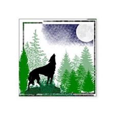 """Howling Wolf Square Sticker 3"""" x 3"""""""
