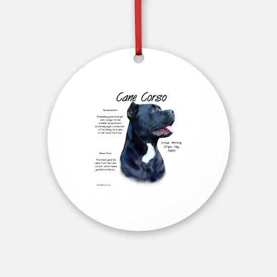 Cane Corso Round Ornament