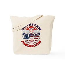 Croatian American Soccer Fan Tote Bag