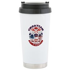 Croatian American Soccer Fan Travel Mug