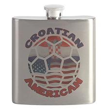 Croatian American Soccer Fan Flask
