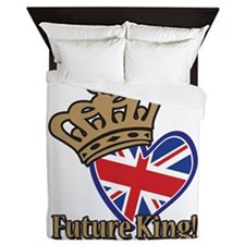 Future King Union Jack Heart Flag Queen Duvet