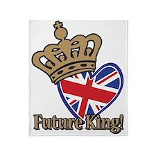 Future King Union Jack Heart Flag Throw Blanket