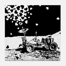 Lunar Rover Of Love Grey Tile Coaster