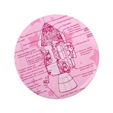 """Pink Space Capsule 3.5"""" Button"""