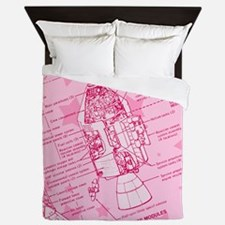 Pink Space Capsule Queen Duvet