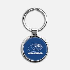 Old School Solar System Round Keychain