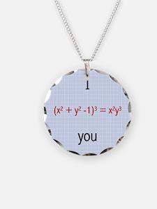 Math Love Formula Necklace