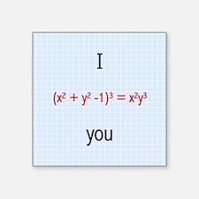 "Math Love Formula Square Sticker 3"" x 3"""