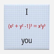 Math Love Formula Tile Coaster