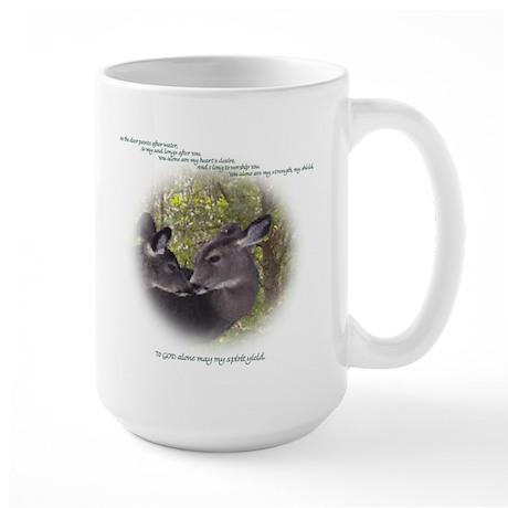As The Deer Large Mug