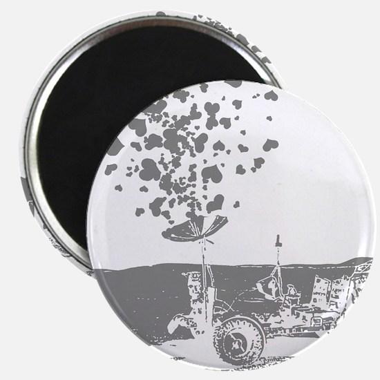 Lunar Rover Of Love Grey Magnet