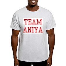 TEAM ANIYA  Ash Grey T-Shirt