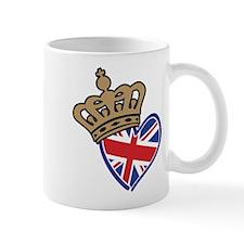 Royal Crown Union Jack Heart Flag Mug