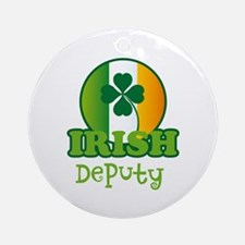 Irish Deputy St Patricks Ornament (Round)