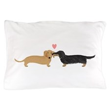 Dachshund Smooch Pillow Case