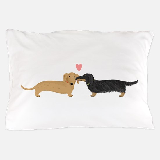 Dachshund Smooch Pillow Case