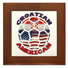Croatian American Soccer Fan Framed Tile