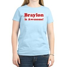 Braylon is Awesome Women's Pink T-Shirt