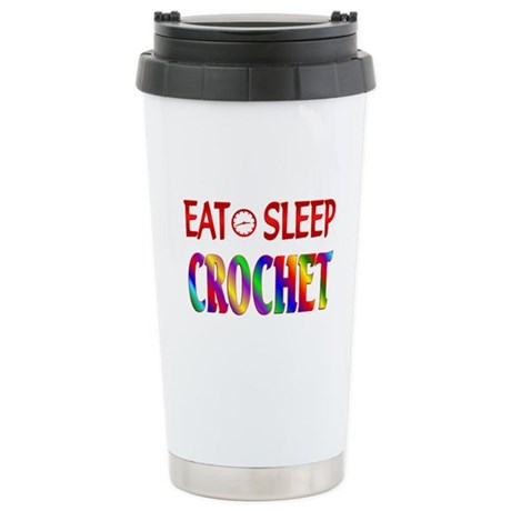 Eat Sleep Crochet Stainless Steel Travel Mug