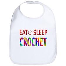 Eat Sleep Crochet Bib
