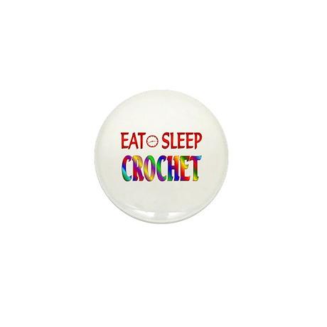 Eat Sleep Crochet Mini Button
