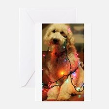 Christmas puppy Greeting Cards
