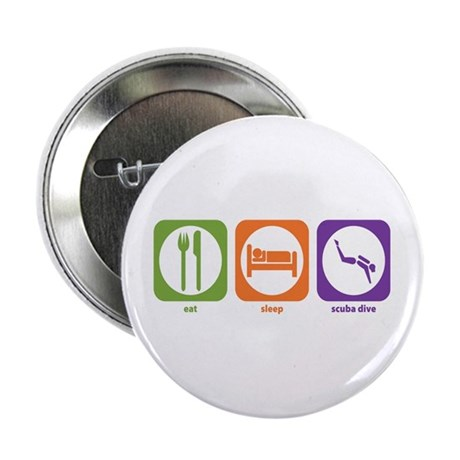 "Eat Sleep Scuba Dive 2.25"" Button (10 pack)"