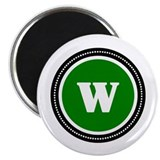 Monogrammed green w 10 Pack