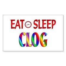 Eat Sleep Clog Decal