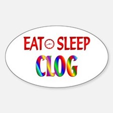 Eat Sleep Clog Decal
