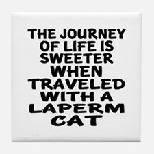 Traveled With laperm Cat Tile Coaster