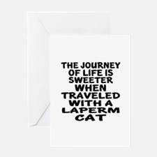 Traveled With laperm Cat Greeting Card