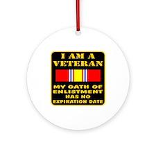 I Am A Veteran Ornament (Round)