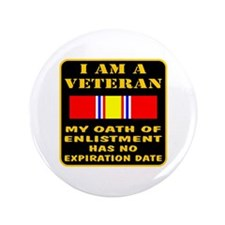 "I Am A Veteran 3.5"" Button"