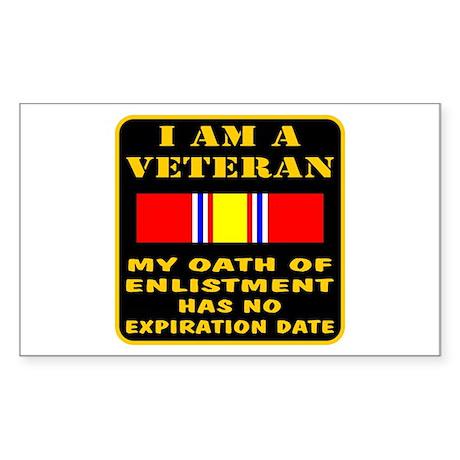I Am A Veteran Sticker (Rectangle)